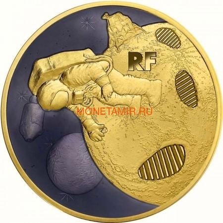Франция 200 евро 2019 Высадка на Луну 50 лет Космос (France 200E 2019 Moon Landing 50th Anniversary 1 oz Gold Coin).Арт.67 (фото)