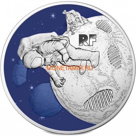 Франция 50 евро 2019 Высадка на Луну 50 лет Космос (France 50E 2019 Moon Landing 50th Anniversary Silver Coin).Арт.67 (фото)
