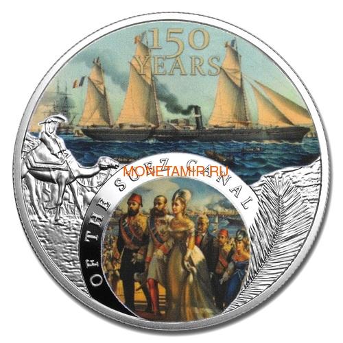 Ниуэ 1 доллар 2019 Суэцкий Канал 150 лет Корабль (Niue 1$ 2019 150th Anniversary of The Suez Canal Proof Silver Coin).Арт.65 (фото)
