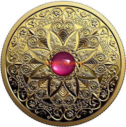 Канада 200 долларов 2019 Мадагаскарский Рубин Свет и Процветание (Canada 200$ 2019 Ruby Celebrating Canada's Diversity Light and Prosperity 1 oz Gold Coin).Арт.65 (фото)