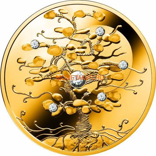 Ниуэ 100 долларов 2019 Дерево Удачи Бриллиант (Niue 100$ 2019 Tree of Luck Diamond 1,5 Oz Gold Coin).Арт.75 (фото)