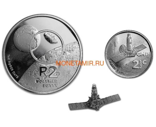 Южная Африка 2 ранда + 2,5 цента 2019 Аполлон 11 и Рейнджер Космос Набор 2 Монеты (2019 South Africa R2 and 2,5c Inventions Polymer Putty Moon Landing Silver Proof Set).Арт.75 (фото)