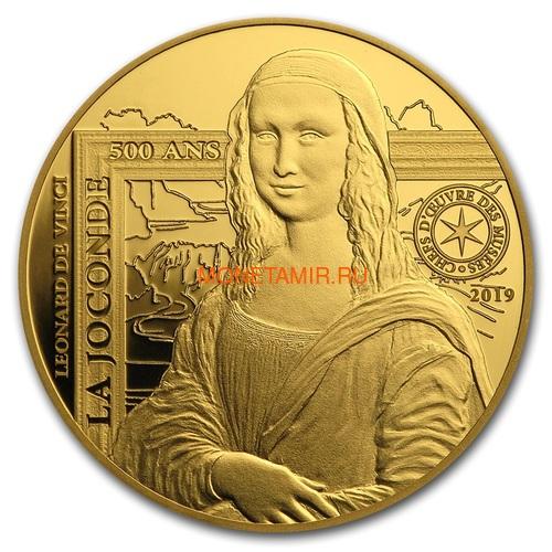 Франция 50 евро 2019 Мона Лиза Леонардо Да Винчи серия Музеи Франции (2019 France 50E Monna Lisa Gold Coin).Арт.75 (фото)