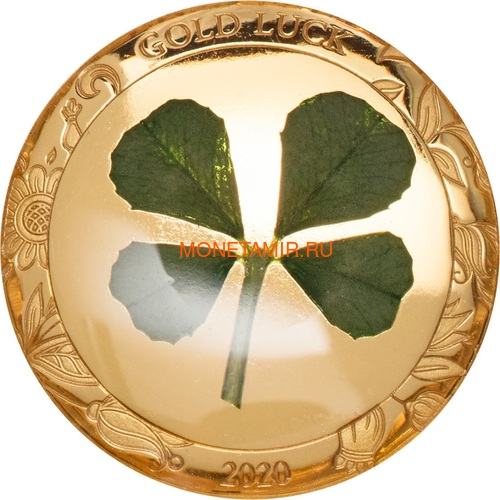 Палау 1 доллар 2020 Клевер На Удачу (Palau 1$ 2020 Good Luck 4-leaf Clover).Арт.65 (фото)