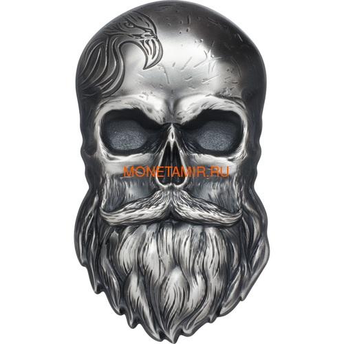 Палау 5 долларов 2019 Череп Байкера (Palau 5$ 2019 Biker Skull 1 oz Silver Coin).Арт.65 (фото)