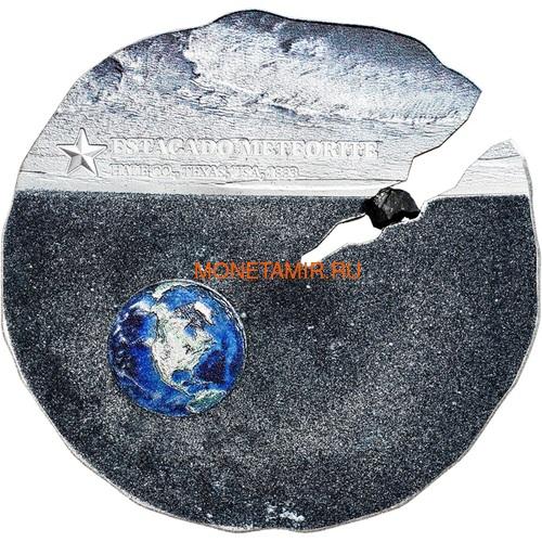Острова Кука 2 доллара 2019 Метеорит Эстакадо (Cook Isl 2$ 2019 Meteorite Estacado ½ Oz Titanium Silver).Арт.65 (фото)