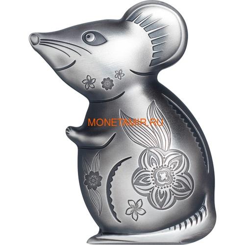 Монголия 1000 тугриков 2020 Остроумная Серебряная Мышка Фигурка (Mongolia 1000T 2020 Witty Silver Mouse 1 oz Silver Coin).Арт.65 (фото)