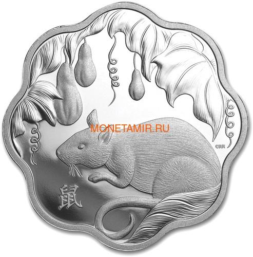 Канада 15 долларов 2020 Год Крысы Лунный Календарь серия Лотос (Canada 15$ 2020 Year of the Rat Lunar Lotus Silver Coin Proof).Арт.000450657572/65 (фото)