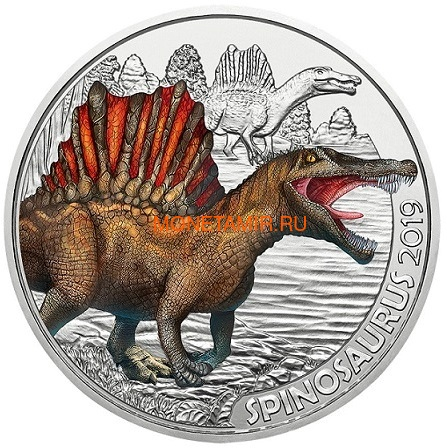 Австрия 3 евро 2019 Спинозавр серия Суперзавры (Supersaurs The Spinosaurus Austria 3 euro 2019).Арт.65 (фото)