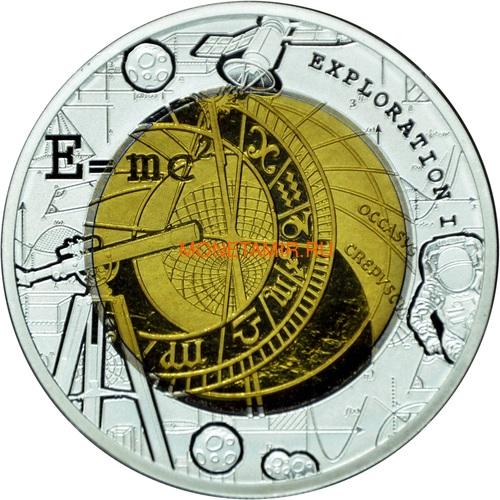 Гана 5 седи 2017 Исследования Космос Формула Эйнштейна Телескоп Биметалл (Ghana 5 cedis 2017 Exploration I Space Travel Silver Tantal Coin).Арт.000484654920/65 (фото)