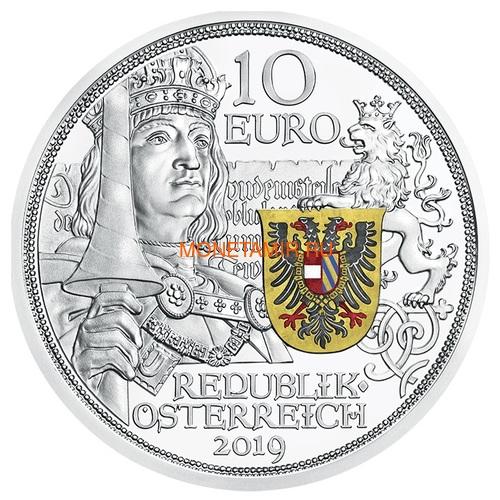 Австрия 10 евро 2019 Благородство серия Рыцарские Истории (Austria 10E 2019 Chivalry Knights' Tales Silver Coin).Арт.65 (фото)