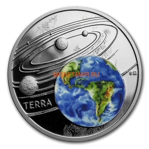 Ниуэ 1 доллар 2019 Солнечная Система Земля (Niue 1$ 2019 Solar System Earth 1Oz Silver Coin).Арт.CZ/67 (фото)