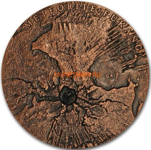 Ниуэ 5 долларов 2018 Метеорит Фукан Мир Метеоритов Космос (Niue 5$ 2018 Meteorite Fukang Spase 2Oz Silver Coin).Арт.001188257843/65 (фото)