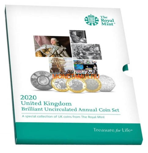 Великобритания Полный Годовой Набор 2020 (The 2020 UK Brilliant Uncirculated Annual Coin Set).Арт.65 (фото)