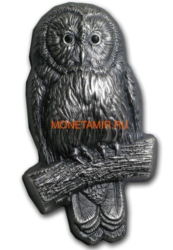 Монголия 1000 тугриков 2019 Уральская Сова Фигурка (Mongolia 1000T 2019 Ural Owl 3D 2 oz Silver Coin).Арт.65 (фото)
