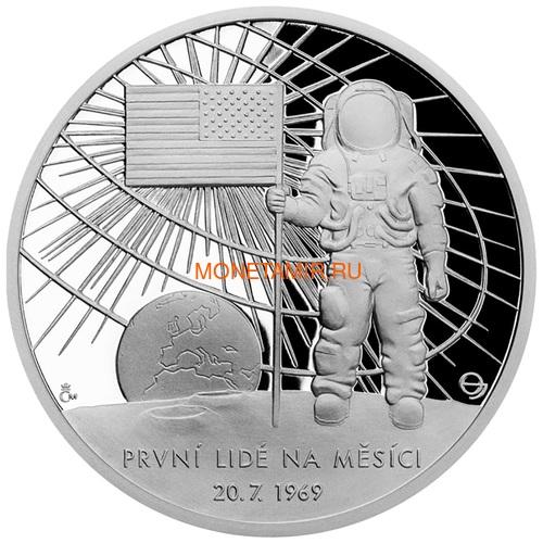 Ниуэ 2 доллара 2019 Первый Человек на Луне Космос (Niue 2$ 2019 First Man on the Moon 1 oz Silver Coin).Арт.CZ/65 (фото)