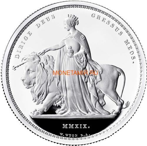 Великобритания 5 фунтов 2019 Уна и Лев (GB 5£ 2019 Una and the Lion 2oz Silver Proof Coin).Арт.65 (фото)