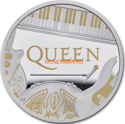 Великобритания 2 фунта 2020 Куин Легенды Музыки (GB 2£ 2020 Queen Music Legends 1oz Silver Proof Coin).Арт.65 (фото)