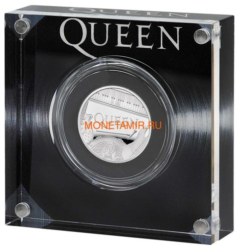 Великобритания 1 фунт 2020 Куин Легенды Музыки (GB 1£ 2020 Queen Music Legends Half Oz Silver Proof Coin).Арт.65 (фото)