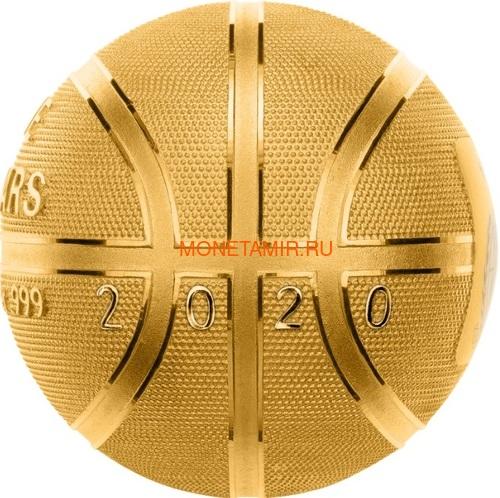 Самоа 5 долларов 2020 Баскетбол Мяч Шар (Samoa 5$ 2020 Basketball 3D 1 Oz Silver Coin Spherical).Арт.65 (фото)