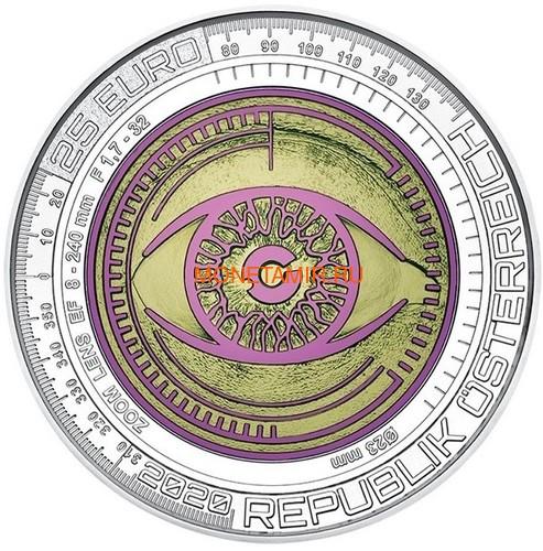 Австрия 25 евро 2020 Большие Данные (Austria 25 euro 2020 Big Data Silver Niobium Coin).Арт.65 (фото)