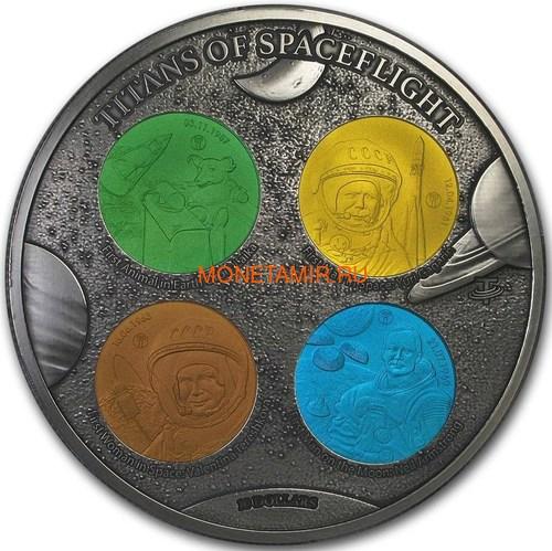 Фиджи 10 долларов 2019 Титаны Космических Полетов 0,5 Кило (Fiji 10$ 2019 Titans of Spaceflight 0,5 Kilo Silver Coin).Арт.Е85 (фото)
