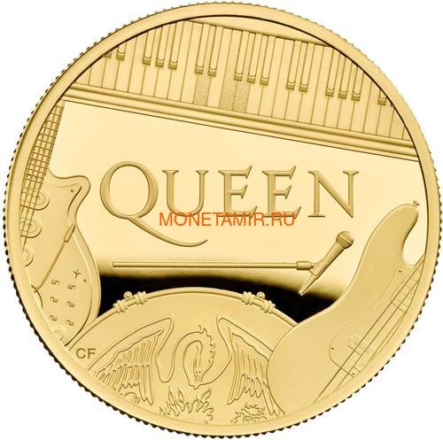 Великобритания 100 фунтов 2020 Куин Легенды Музыки (GB 100£ 2020 Queen Music Legends Gold Proof Coin).Арт.92E (фото)