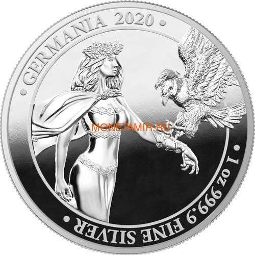 Германия 5 марок 2020 Германия Орел (Germania 5 Mark 2020 Gemania 1oz Silver Coin).Арт.75 (фото)