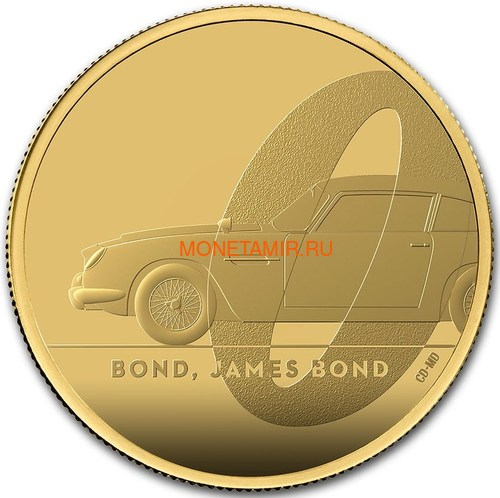 Великобритания 100 фунтов 2020 Джеймс Бонд (GB 100£ 2020 James Bond 1oz Gold Proof Coin).Арт.65 (фото)