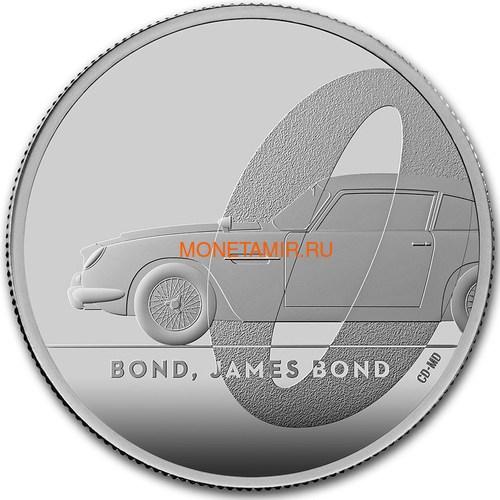 Великобритания 2 фунта 2020 Джеймс Бонд (GB 2£ 2020 James Bond 1oz Silver Proof Coin).Арт.65 (фото)