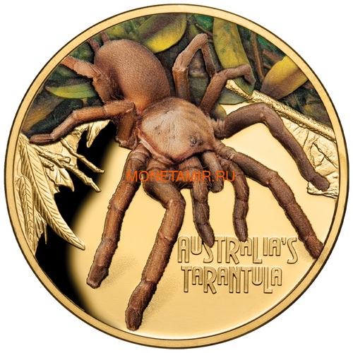 Ниуэ 100 долларов 2020 Тарантул Паук серия Смертельно Опасные (Niue 2020 $100 Tarantula Deadly & Dangerous 1oz Gold Proof Coin)Арт.88 (фото)