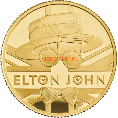 Великобритания 25 фунтов 2020 Элтон Джон Легенды Музыки (GB 25£ 2020 Elton John Music Legends Quarter-Ounce Gold Proof Coin).Арт.82 (фото)
