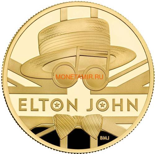 Великобритания 100 фунтов 2020 Элтон Джон Легенды Музыки (GB 100£ 2020 Elton John Music Legends 1oz Gold Proof Coin).Арт.82 (фото)