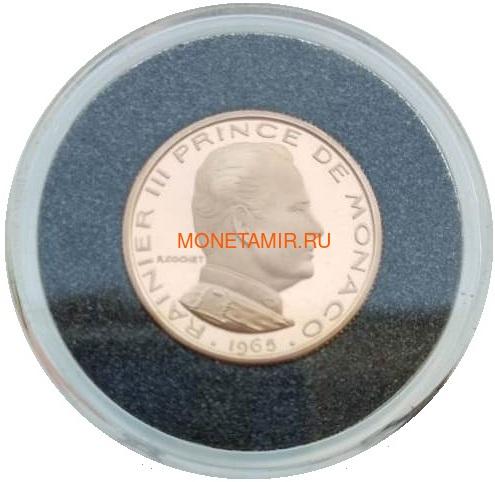Монако ½ франка 1965 Ранье III Пробник (Monaco ½ Franc 1965 Rainier III ESSAI Gold Coin).Арт.000541145031/K0,55G/90 (фото)