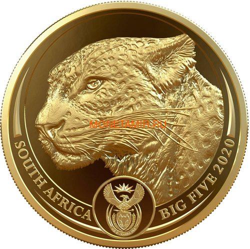 Южная Африка 50 рандов 2020 Леопард Большая Африканская Пятерка (South Africa 50 Rand 2020 Leopard Big Five 1oz Gold Coin).Арт.92 (фото)