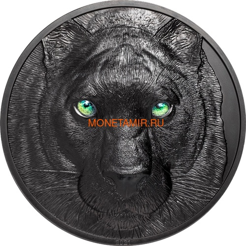 Палау 50 долларов 2021 Черная Пантера Килограмм ( Palau 50$ 2021 Black Panther Hunters by Night Kilo Silver Coin ).Арт.92 (фото)