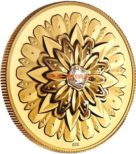 Канада 200 долларов 2019 Бриллиант Черная Метка Квадрат ( Canada 200$ 2019 Forevermark Black Label Square Diamond 1oz Gold Coin ).Арт.92 (фото)