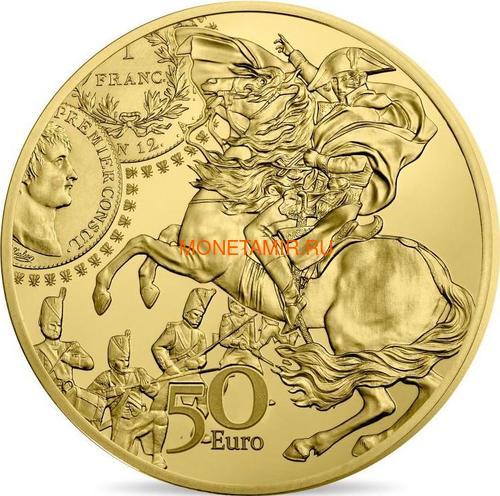 Франция 50 евро 2019 Франк Жерминаль Наполеон Сеятель Монеты на Монетах ( France 50E 2019 The Germinal Franc Gold Proof Coin ).Арт.92 (фото)