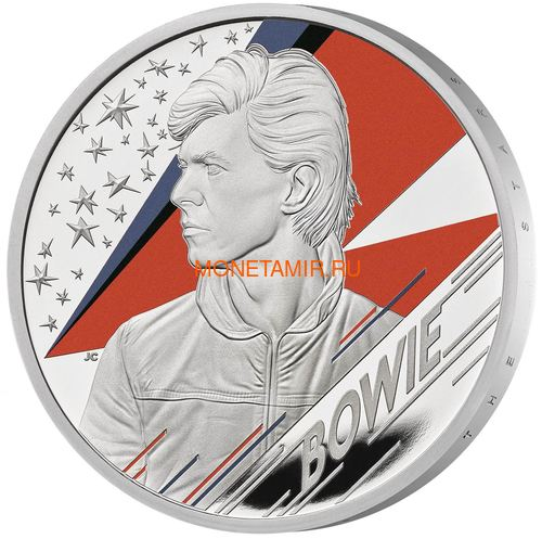 Великобритания 2 фунта 2020 Дэвид Боуи Легенды Музыки ( GB 2£ 2020 David Bowie Music Legends 1oz Silver Proof Coin ).Арт.92E (фото)