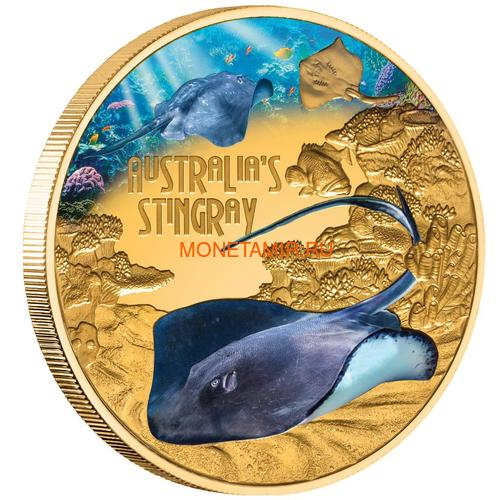 Ниуэ 100 долларов 2021 Скат серия Смертельно Опасные ( Niue 2021 $100 Stingray Deadly and Dangerous 1oz Gold Proof Coin )Арт.92 (фото)