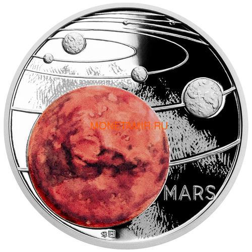 Ниуэ 1 доллар 2020 Солнечная Система Марс (Niue 1$ 2020 Solar System Mars 1Oz Silver Coin).Арт.CZ/92 (фото)