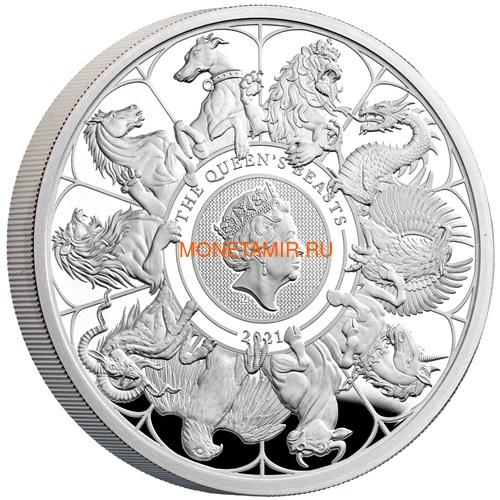 Великобритания 2 фунта 2021 Звери Королевы (GB 2£ 2021 Queen's Beast 1oz Silver Proof Coin).Арт.92 (фото)