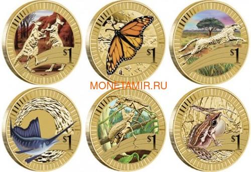 Австралия 1$ 2012 Животные Атлеты Набор 6 Монет (Australia 2012 1$ Animal Athletes Young Collectors Coin Collection).Арт.92 (фото)