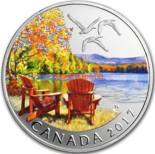 Канада 10 долларов 2017 Осенняя Палитра (2017 Canada $10 Autumn's Palette 1/2 oz Silver Coin).Арт.92 (фото)
