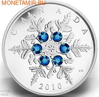 Канада 20 долларов 2010.Снежинка (Голубая).Арт.000269833168/60 (фото)