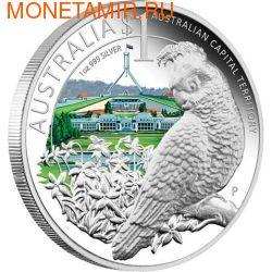 """Австралия 1 доллар 2010. """"Празднование Австралии"""" """"Шлемоносный какаду"""""""