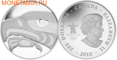 Канада 250 долларов 2010. Орел. Ванкувер-2010