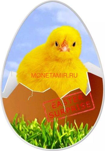 Острова Кука 5 долларов 2009 Маленький Цыпленок - Пасхальное яйцо(монета с термическим изображением).Арт.
