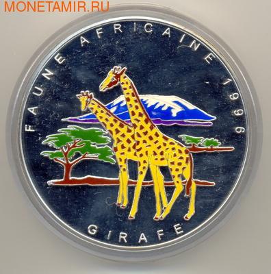 Конго 20000 франков 1996. Африканская фауна: жираф (фото)