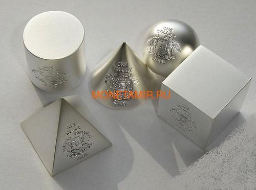 Сомали 5х1 доллар 2008 Геометрические фигуры 3D Набор 5 монет (Somalia 5x1$ 2008 Geometric Shapes 3D 5 coins set).Арт.001125320516/60